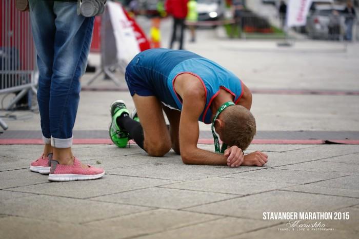 Stavanger maratón 2015 emócie v cieli