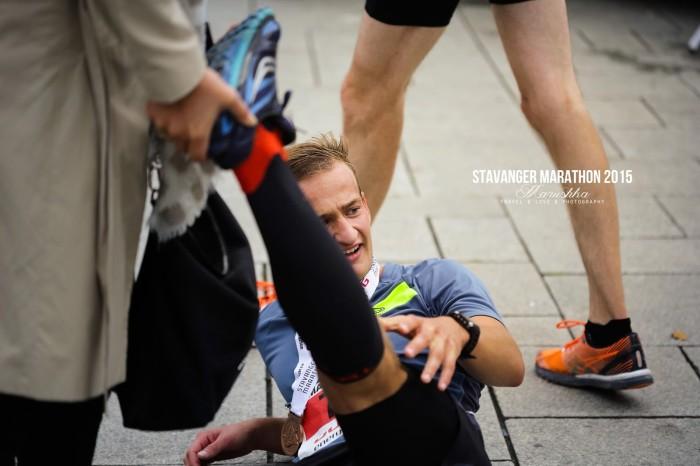 Stavanger maratón 2015 - strečing