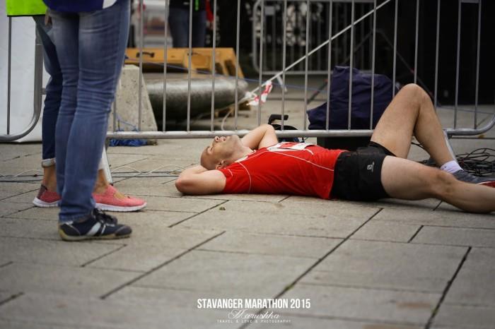 Stavanger maratón 2015 - v cieli