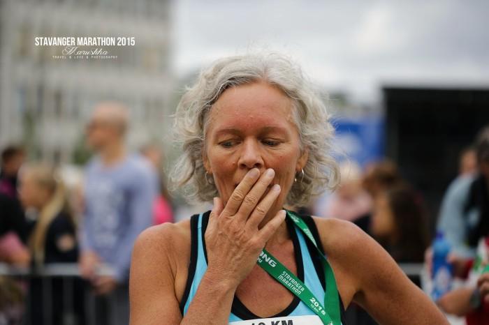 Stavanger maratón 2015 v cieli 10k