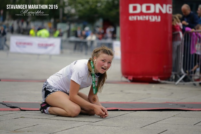 Stavanger maratón 2015 koniec v cieli