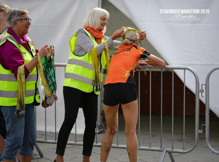 Stavanger maratón 2015 - žena