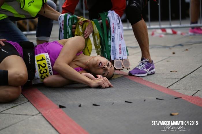 Stavanger maratón 2015 koniec
