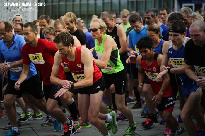 Stavanger maratón 2015 - štart