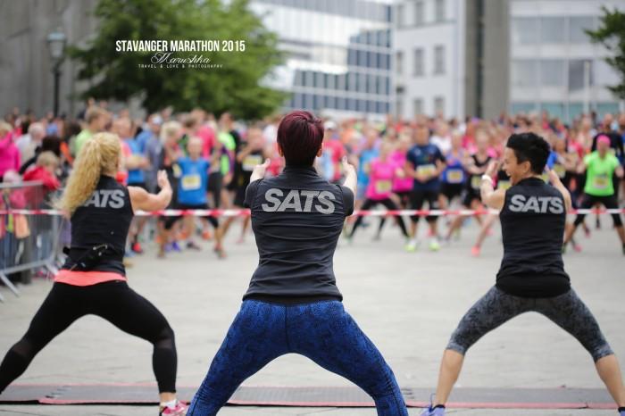 Stavanger maratón 2015 - roztlieskavačky
