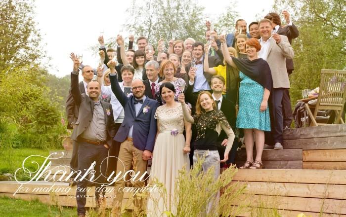 Svadobný hostia - komplet