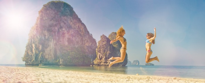 Railay beach v Thajsku