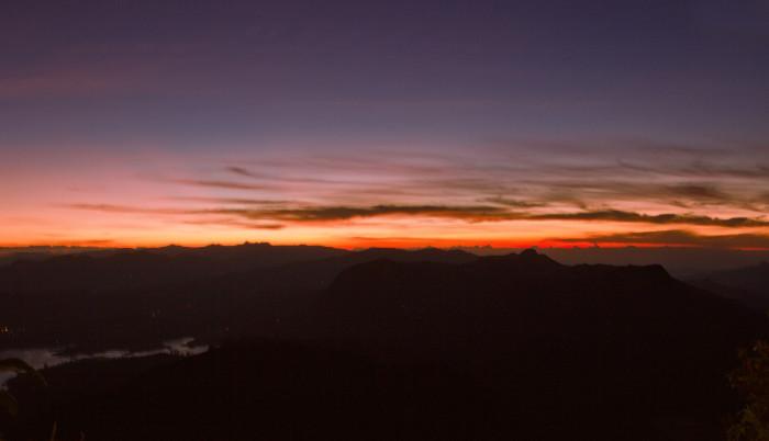 Výhľad z Adams peak. Srí Lanka.