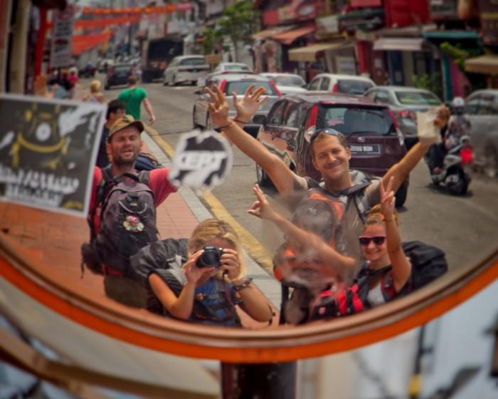 Malajzia. Gruppen selfie.