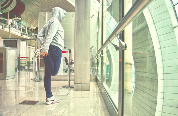 Katka na letisku v Dubaji