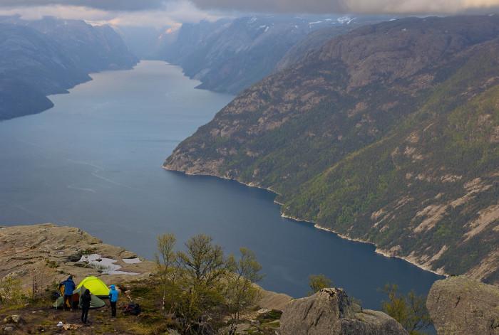 Stanovanie Preikestolen, Nórsko.