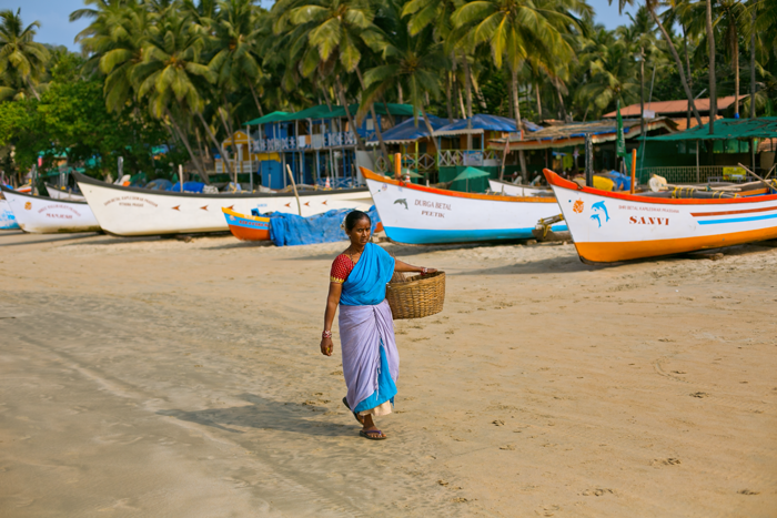 Indka na Palolem Beach, GOA, INDIA