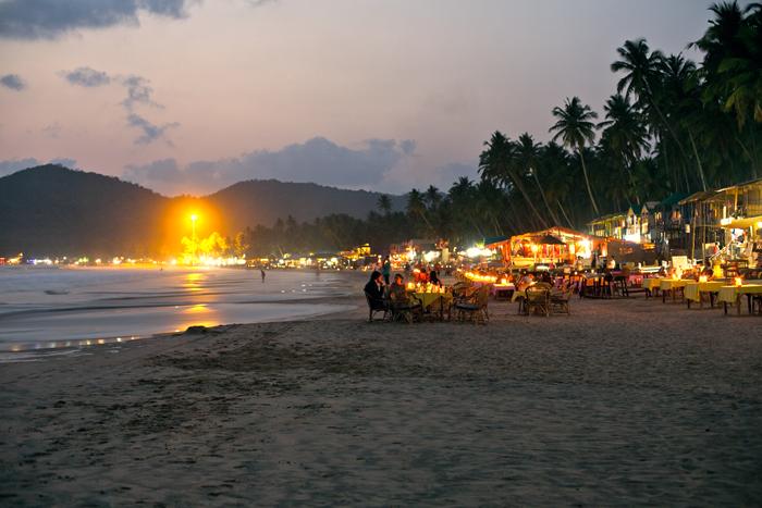 Palolem beach, pláž pri meste Canacona - India