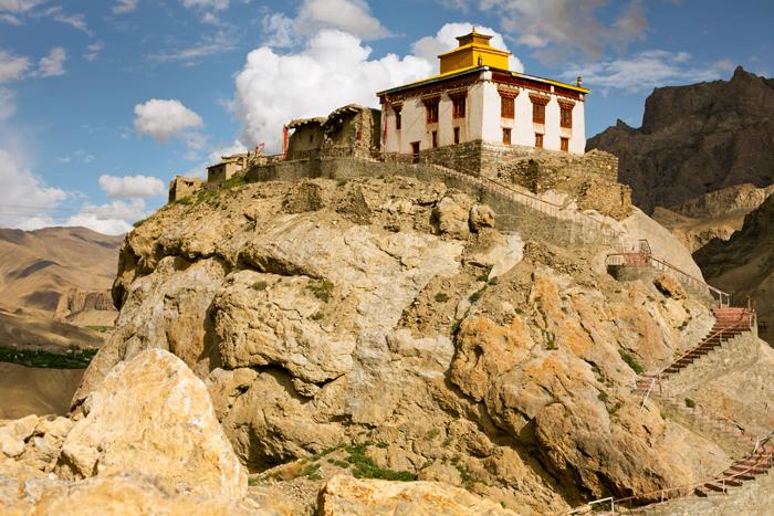 Kláštor v Mulbekhu - Ladakh, India