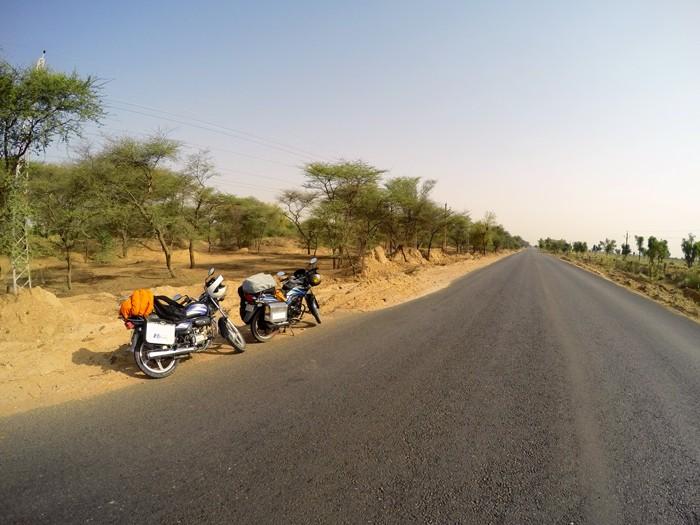 motorky v Radzastane, India