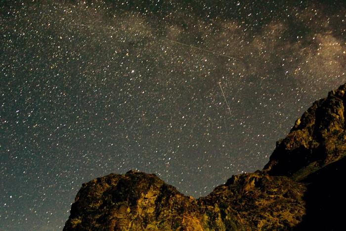India, Ladakh, nočná obloha