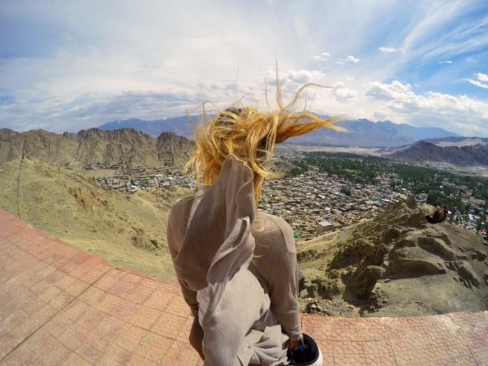 Tsemo gompa, Leh, Ladakh, India, SVET