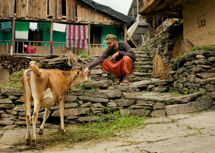 India, Vashisht - čestný obyvateľ.