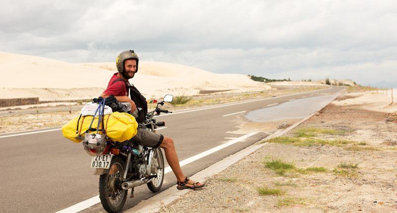 Motorkar na ceste vo Vietname.