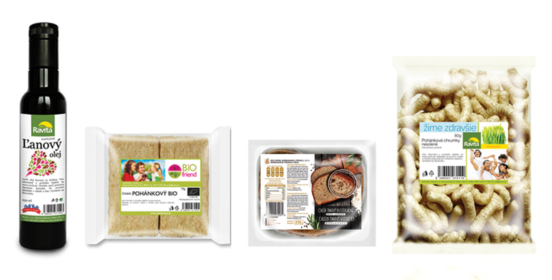 Graficky spracovane produkty pre spoločnosť Ravita,s.r.o.