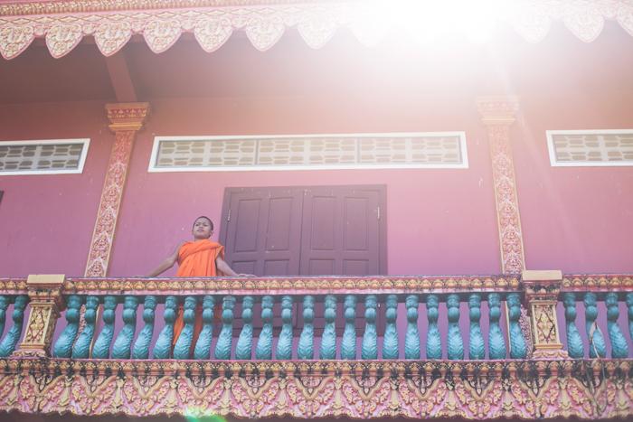 Malý mních v Kambodži