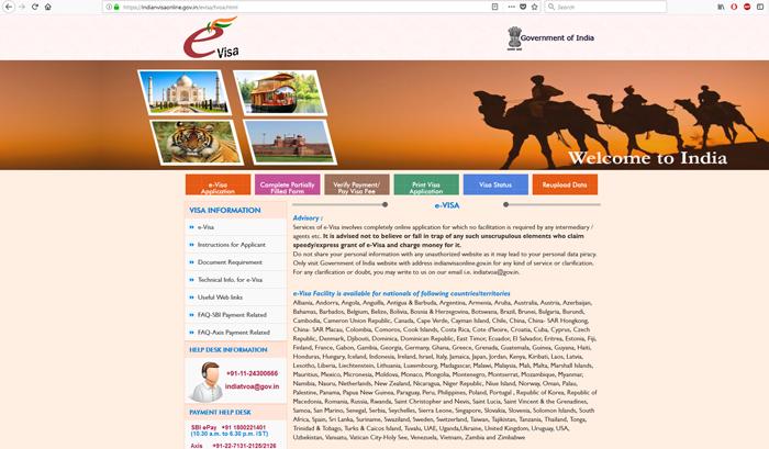 Oficiálna stránka indickej vlády na eTV